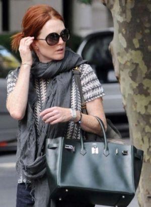 73927403c94a celebrities birkin bags JULIANNE MOORE Frockage  Hermes Birkin bag ...