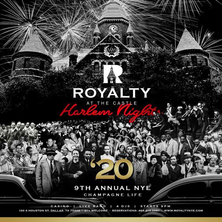 Harlem Nights Royalty NYE 2020 Casino & Fireworks Watch