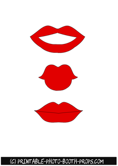 Printable Lips Template : printable, template, Printable, Props, Photo,, Photo, Booth, Printables,