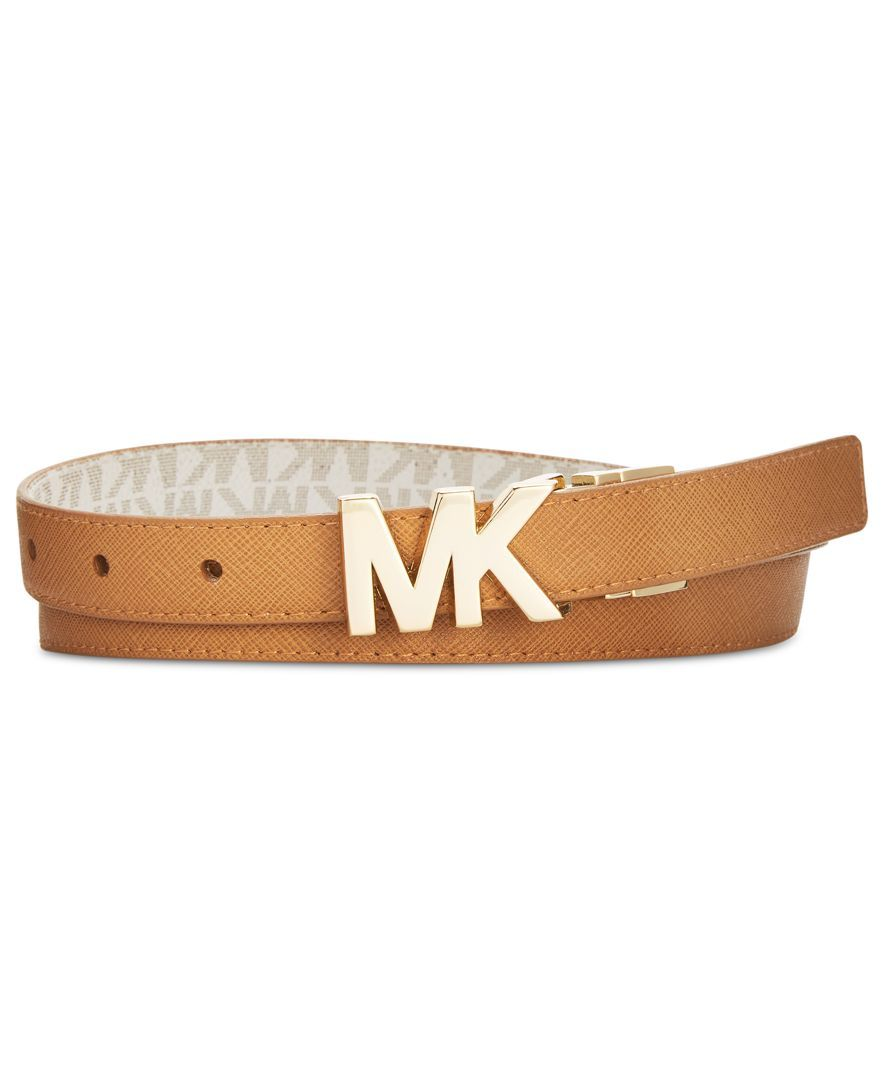 893ada0e059b ... reduced michael michael kors mk plaque skinny reversible belt 780c7  3cfdd