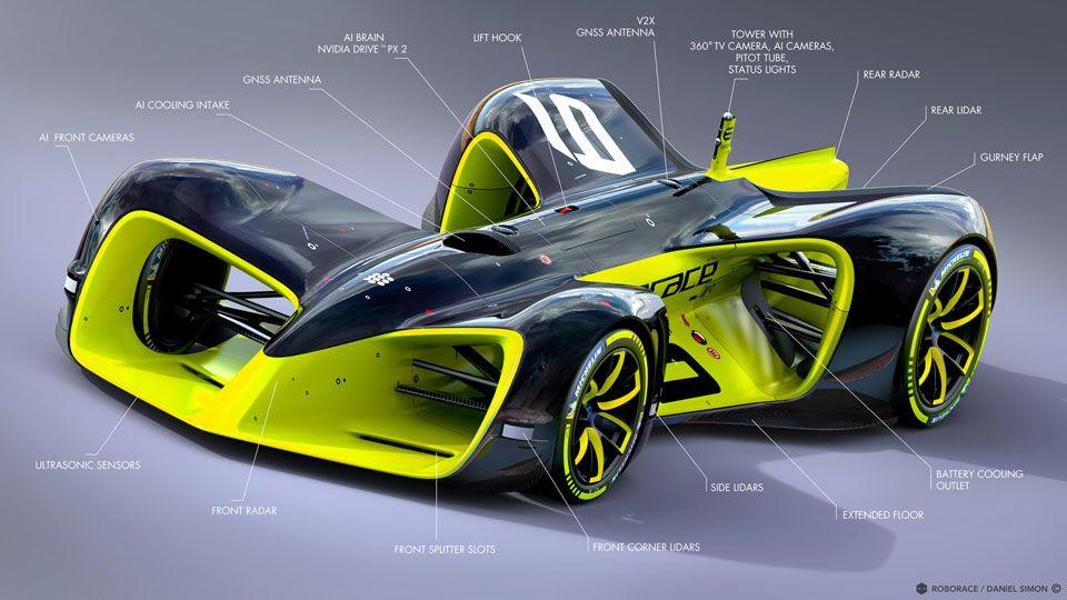 Http Danielsimon Com Wp Content Uploads 2016 12 Roborace Danielsimon Robocar 002 Jpg Racing Car Design Race Cars Race Car Sets