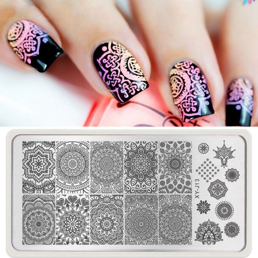 0.99 GBP - 1 Sheet Manicure Template Nail Art Image Stamping Retro ...