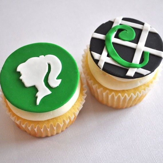 silhouette fondant cupcake toppers