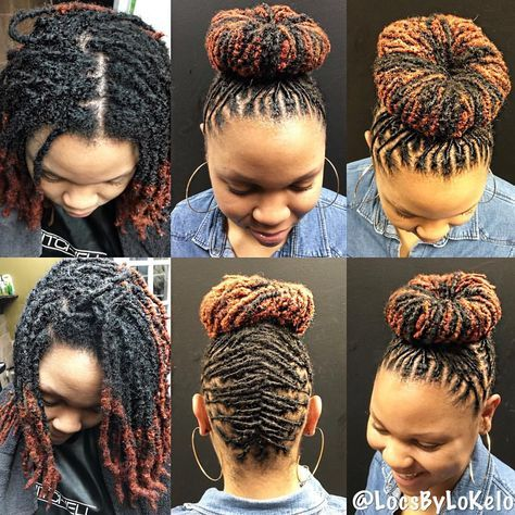 """668 Likes, 14 Comments - The King Of LOCS (@locsbylokelo) on Instagram: """"Lovely Loc Bun to start of the morning 💕 💡 Locstars in the #DMV area my next opening on Styleseat…"""""""