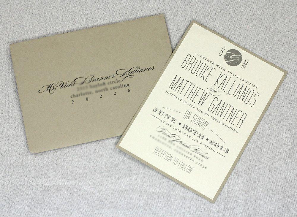 Chevron Wedding Invitation by AMGDesignCo on Etsy, $3.75