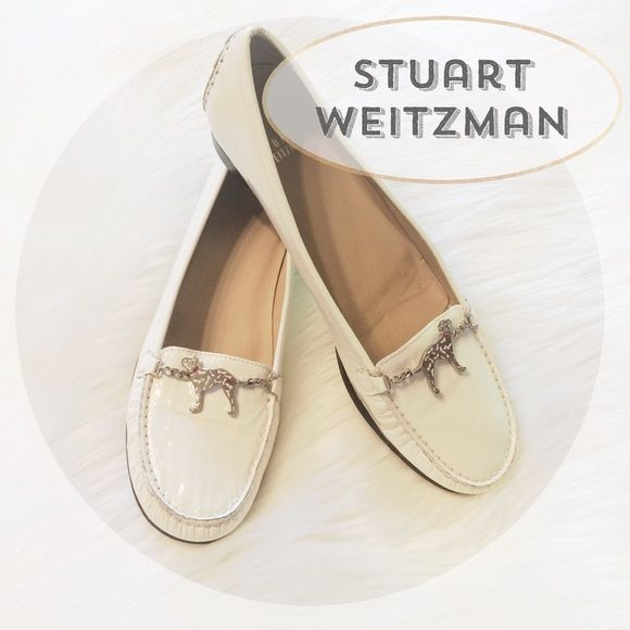 "Spotted while shopping on Poshmark: ""HPTotal Trendsetter White Patent leather loafers""! #poshmark #fashion #shopping #style #Stuart Weitzman #Shoes"