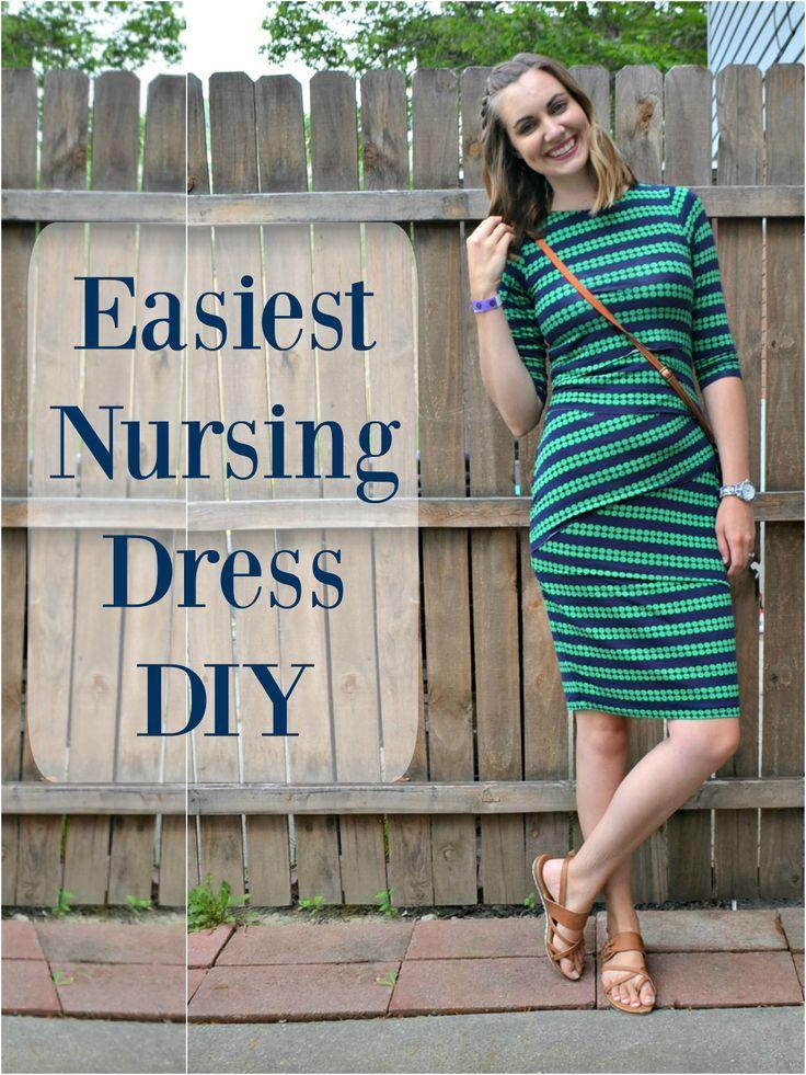 c72512420b Easiest Nursing Dress Hack    http   DIYmaternity.com Diy Nursing Clothes