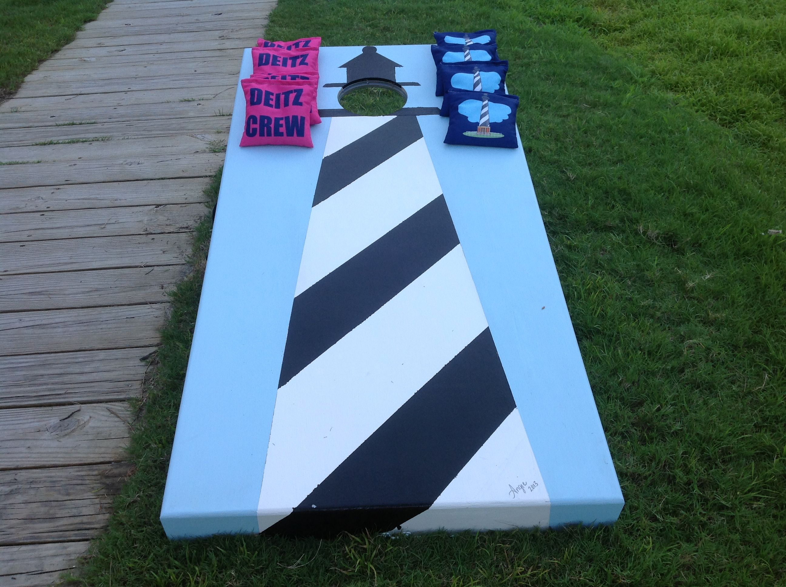 hatteras lighthouse cornhole boards and bags obx - Cornhole Boards For Sale