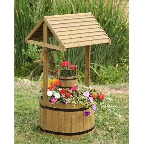 New Modern Wishing Well Planters Garden