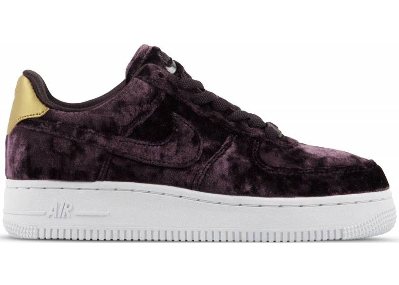 40485930 Check out the Air Force 1 Low Port Wine Velvet (W) available on StockX