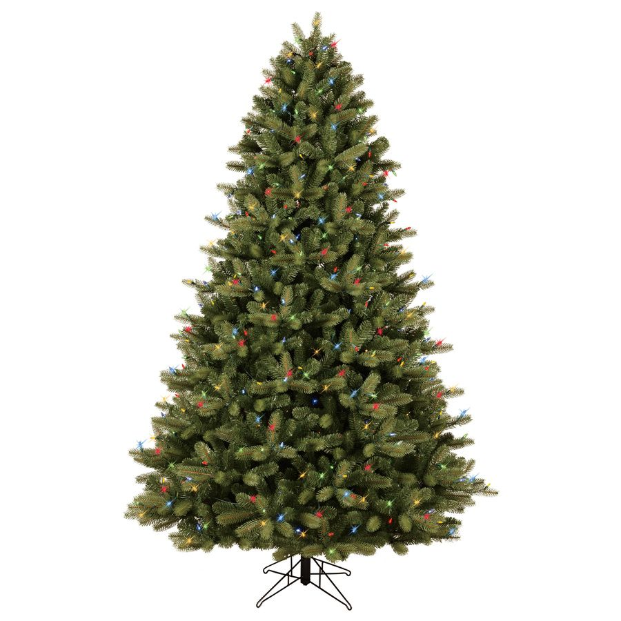 Color Switch Christmas Tree: GE 7.5-ft Pre-Lit Colorado Spruce Full Artificial