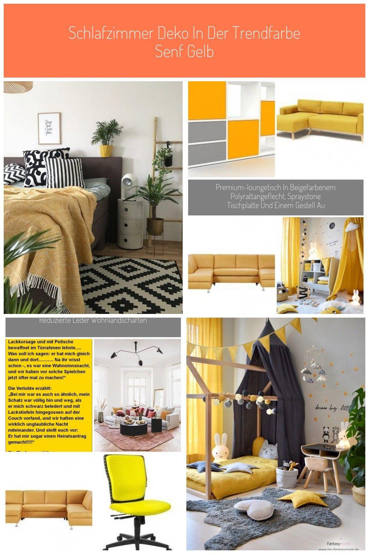 Schlafzimmer Deko Gelb
