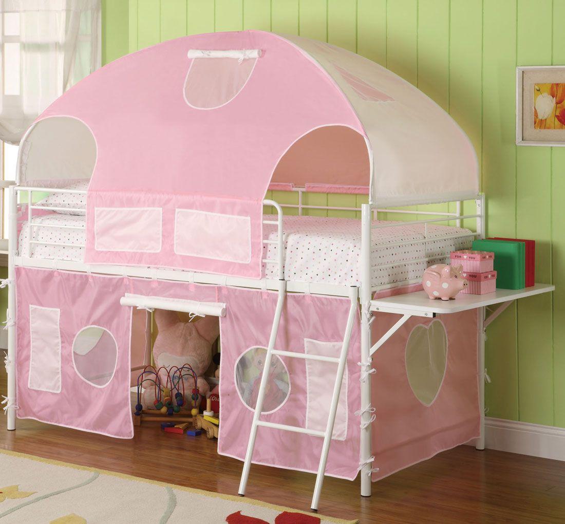 Loft bed ideas for girls   Girls Tent Bunk Bed  Design that inspires you  Pinterest