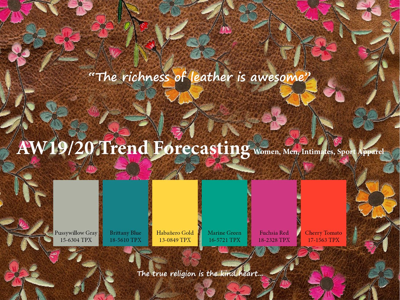 AutumnWinter 2019/2020 trend forecasting is A TREND/COLOR ...