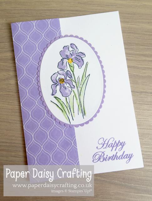 Paper Daisy Crafting: Inspiring Iris Birthday Card