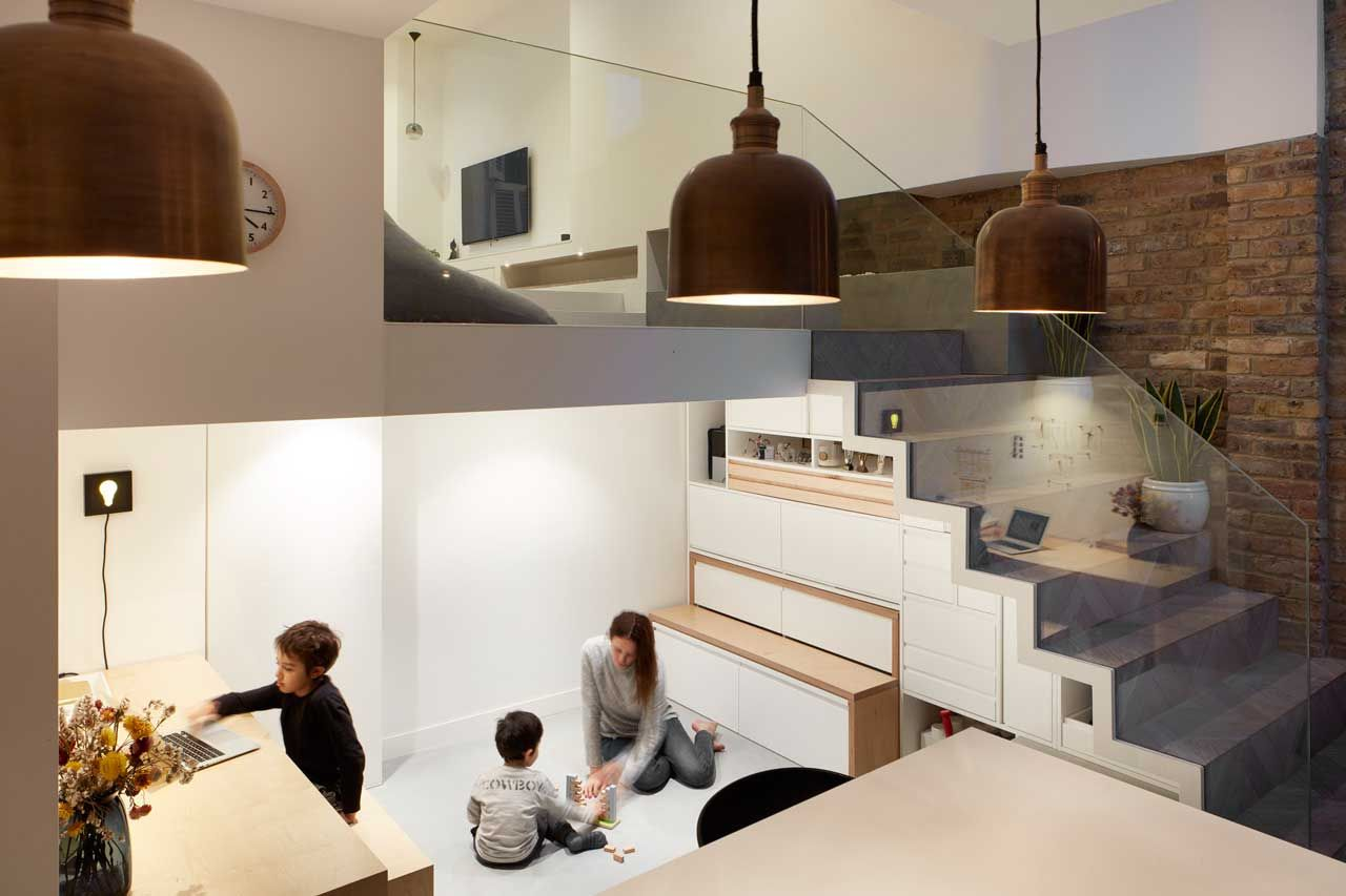 Scenario House Splits the Levels to Visually Connect the Spaces - Design Milk