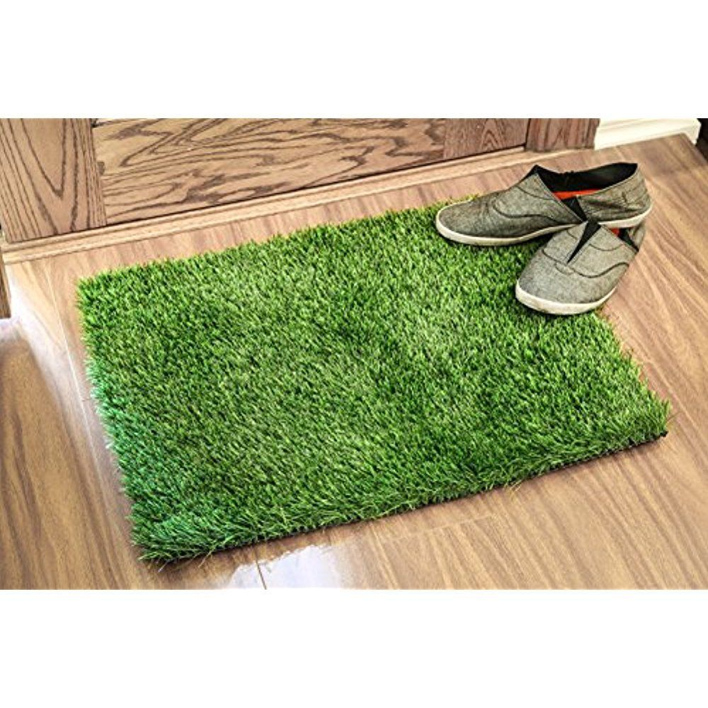 24 Quot X18 Quot Artificial Grass Door Mat Rug Welcome For Entrance