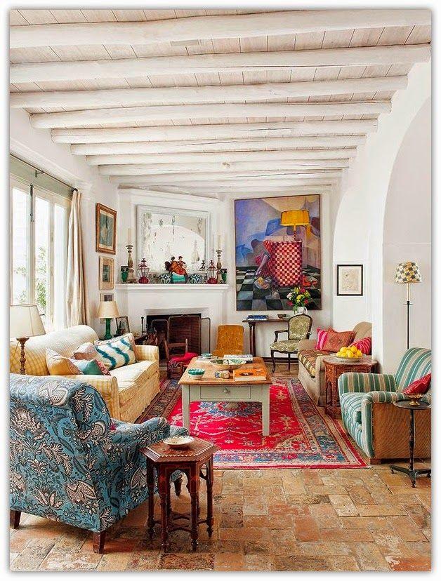 Art symphony summer atmosphere in seville home for Wohnzimmer indisch einrichten