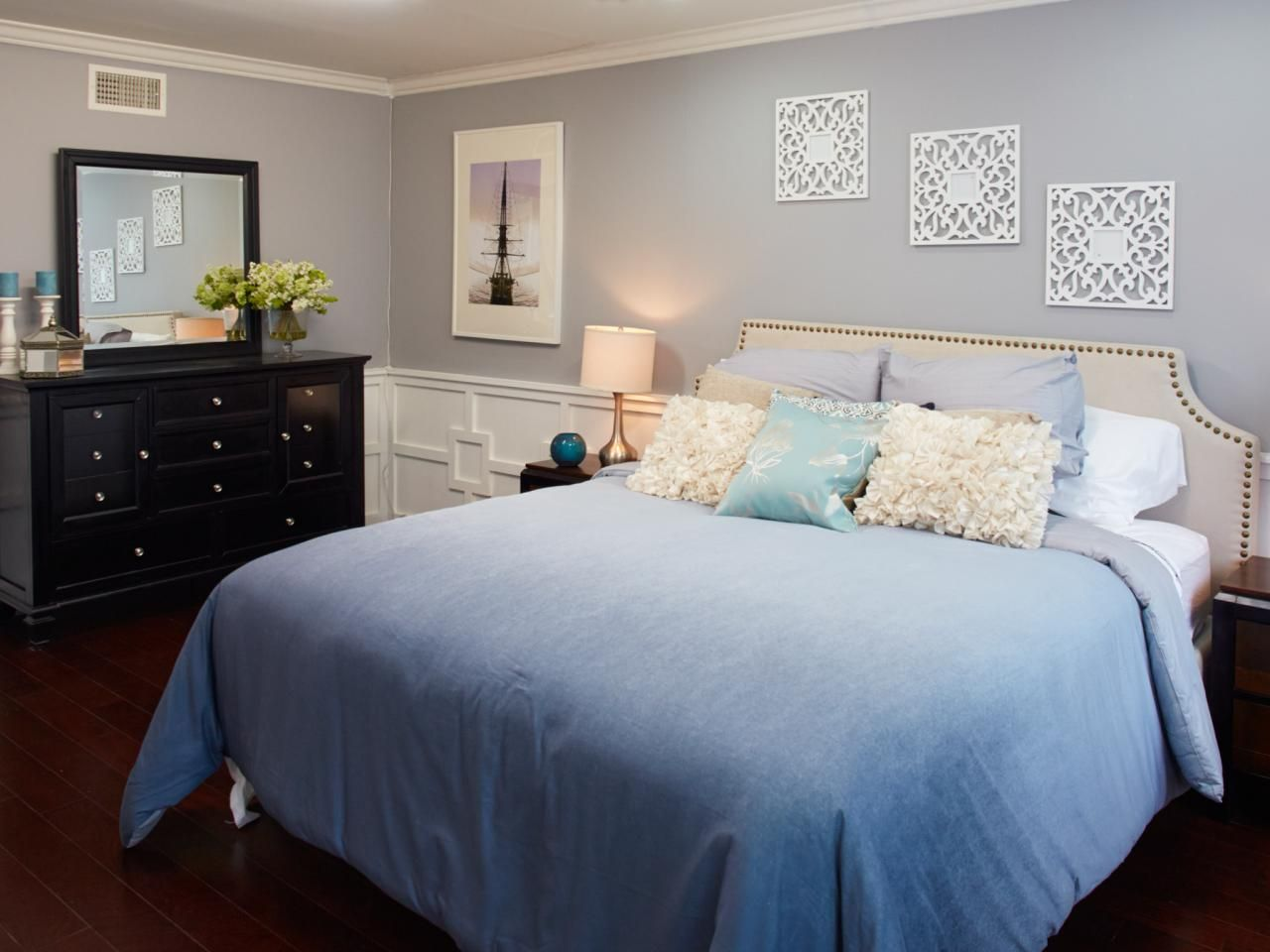 Blue Contemporary Master Bedroom Photos Hgtv Teen