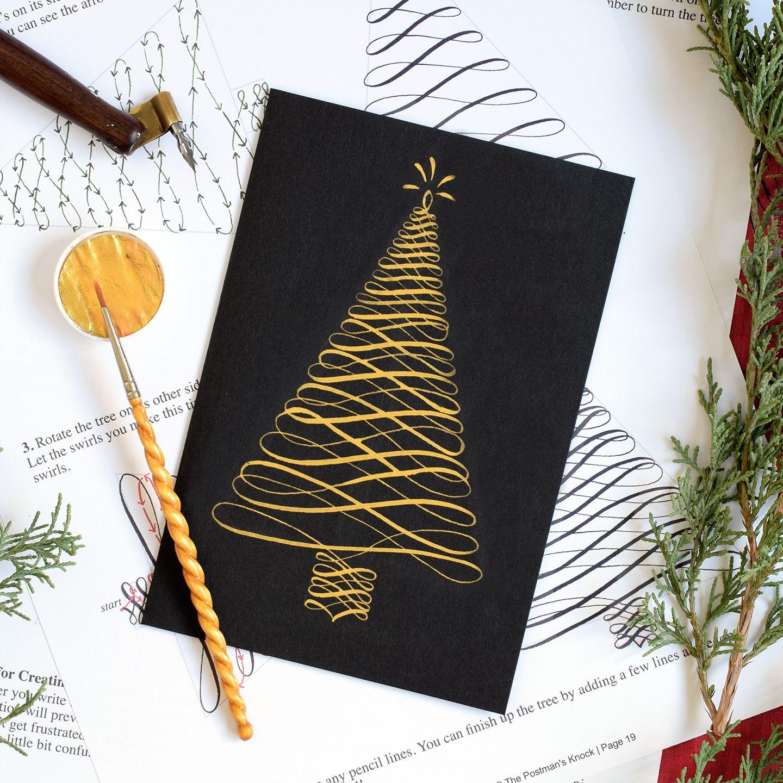 Holiday Calligraphy Printable Exemplar Worksheet