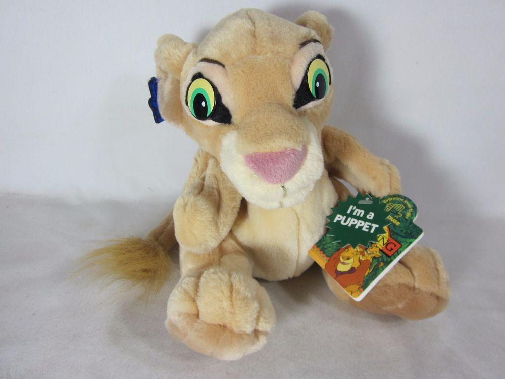 "Walt Disney The Lion King Nala Cub Lion Hand Puppet 8"" Plush Stuffed Animal #Applause"