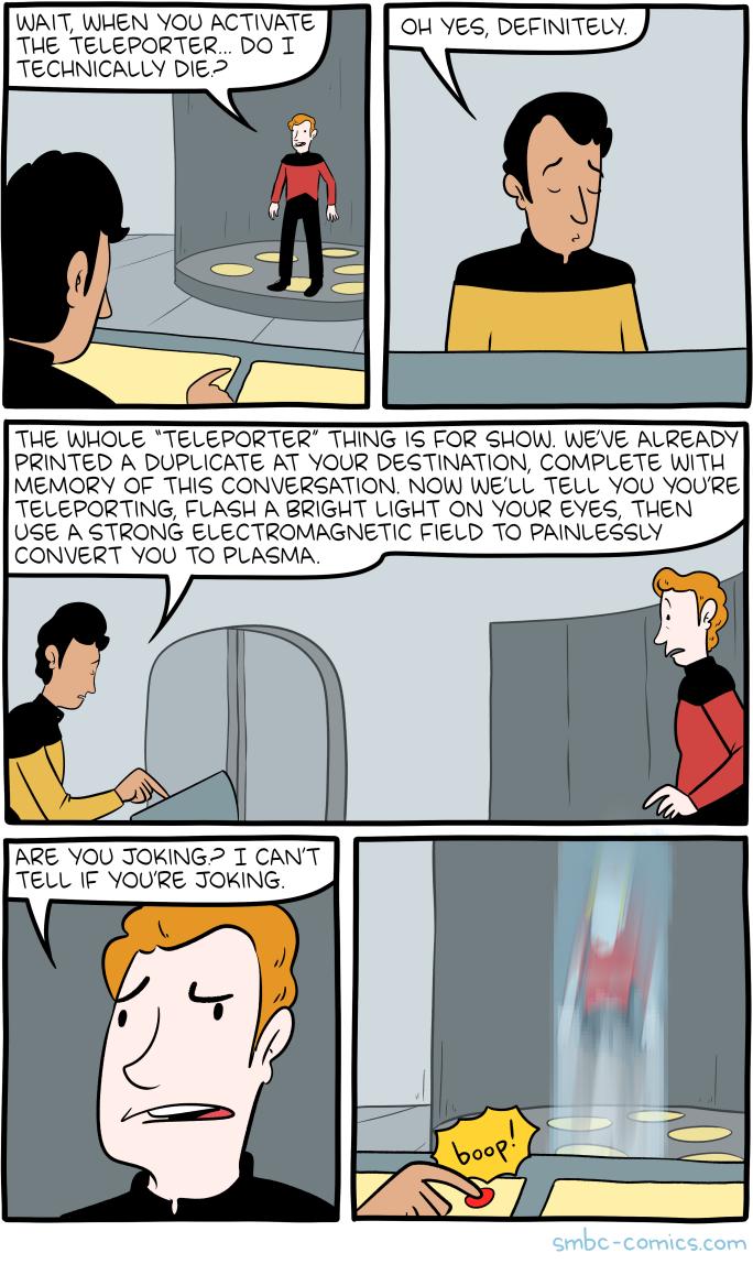 Teleportation Comics Saturday Morning Breakfast Cereal Star Trek Transporter