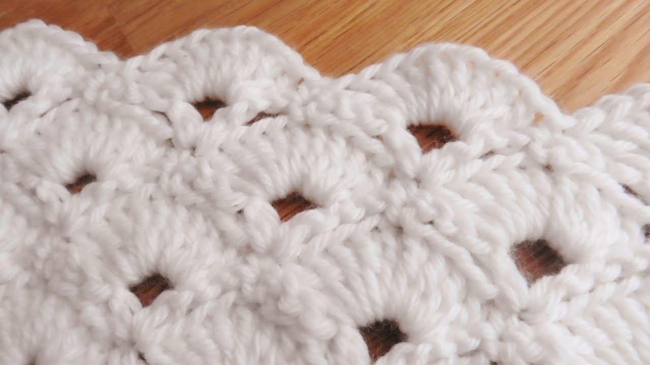 Bufanda de Abanicos a Crochet | Dos agujas y Artesanía