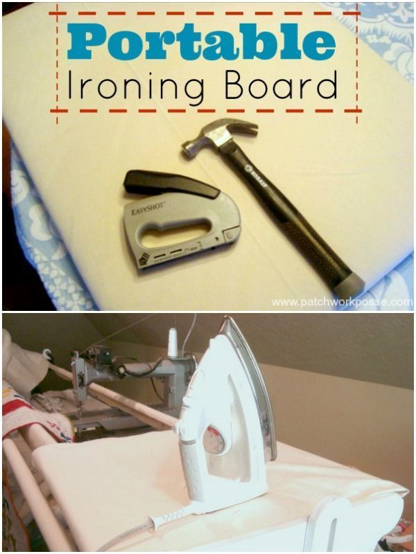 portable ironing board tutorial   easy and great for sewing retreats   patchwork posse