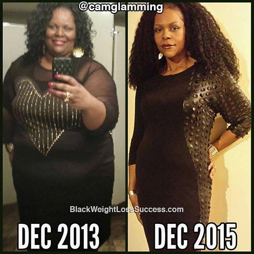 Cynthia lost 250 pounds,