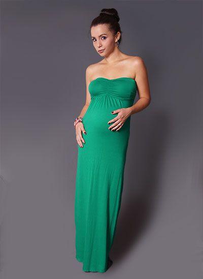 d5bf7e17a maxi-strapless-verde esmeralda Moda Para Embarazadas