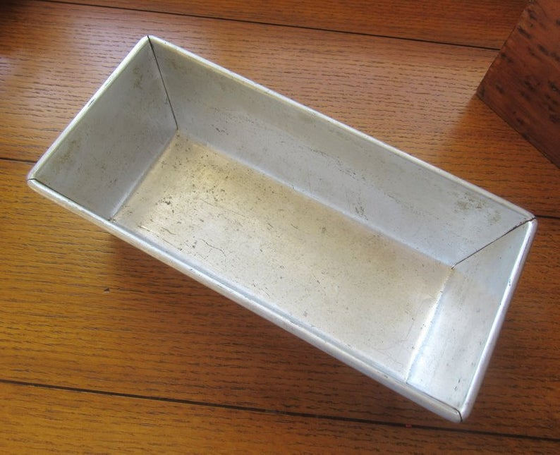Aluminum Bread Pan Vintage Bakeware Envelope Ends Long And Etsy