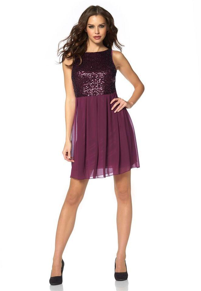 Kleid mit Pailletten Besatz - Schickes Kleid in Lila von Laura Scott ...