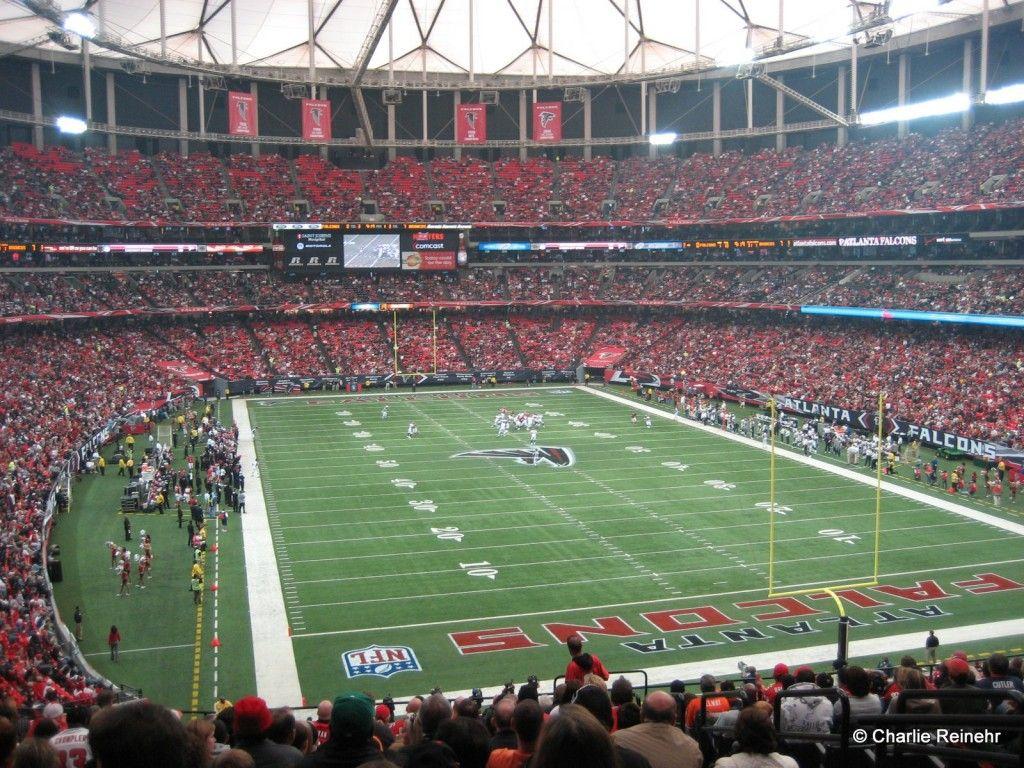 Atlanta Falcons Comcast Dome Atlanta Falcons Football Nfl Stadiums Atlanta Falcons Pictures