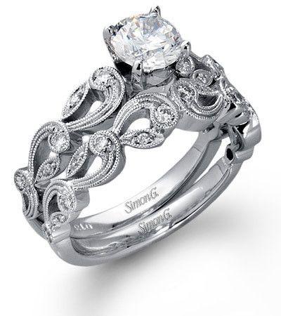 Bridal Paisley Designpaisley Patternpaisley Weddingwedding Setwedding Ringswhite