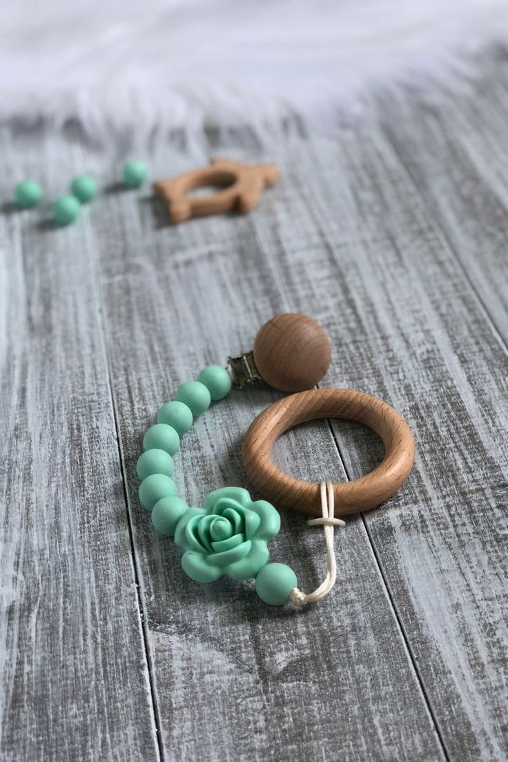 Clever Pacifier Clips Teething Rose Flower Baby Carrier Pendant Short Chain Chew Toy Food Grade Jewelry Silicone Teether Soother Holder Nipple & Accessories Feeding