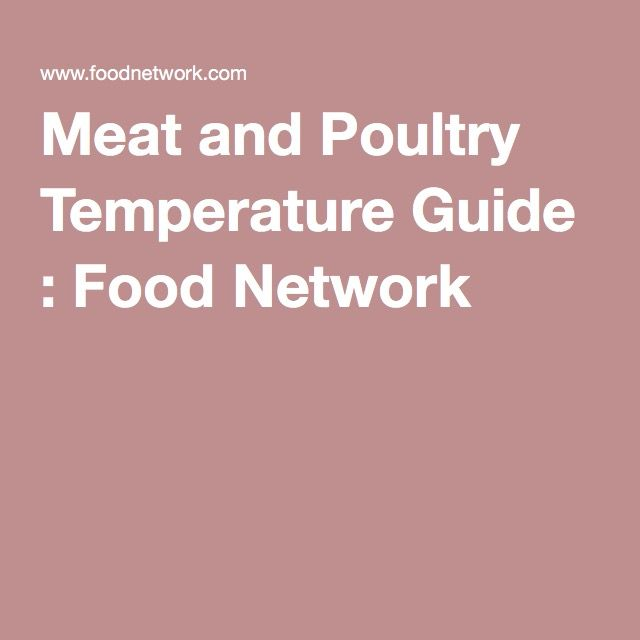 Meat And Poultry Temperature Guide Food Network Meatloaf Chart Kettle Corn
