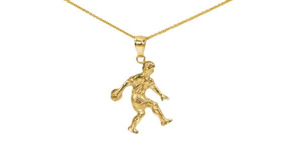 10k Gold Bowling Charms For Charm Bracelet 10k By Iceonfirejewelry Gold 10k Gold Charm Necklace