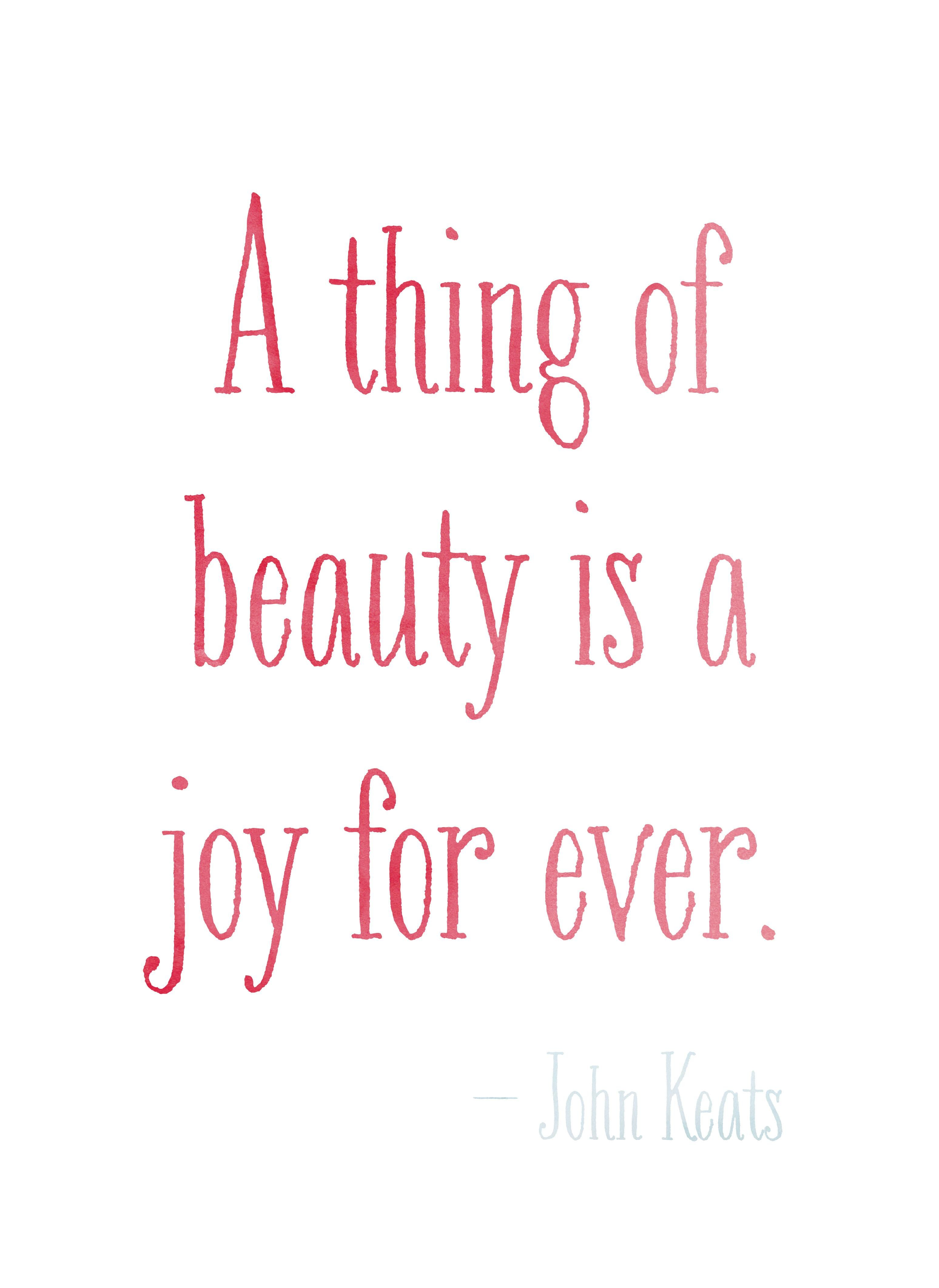 Art Print Watercolor Joy Quote Forever Framed Quotes A Thing Of Beauty John Keat Theme