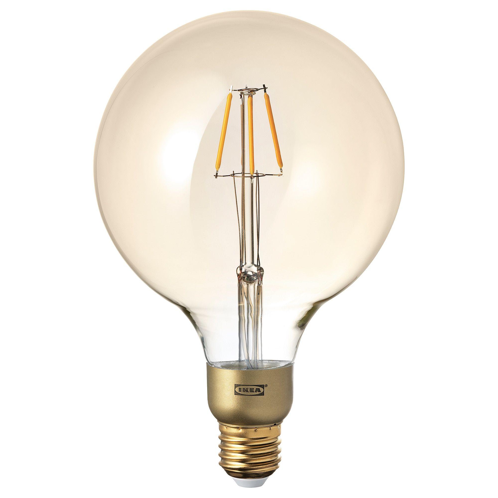 E27 Leuchtmittel IKEA NITTIO LED-Lampe in kupferfarben; rund