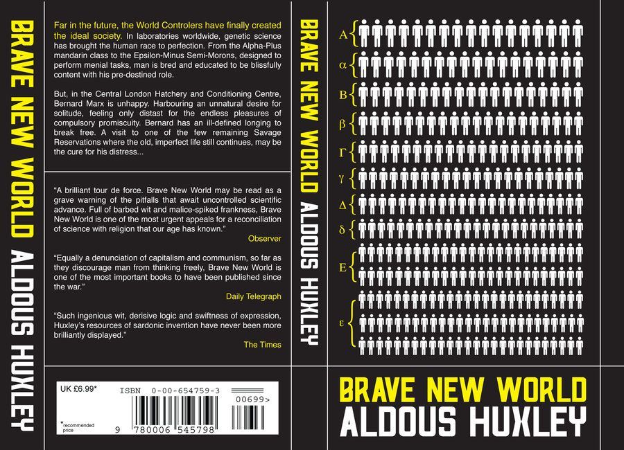 the future society in brave new world a novel by aldous huxley Aimana: 'brave new world is a scary depiction of what could soon be our future'.