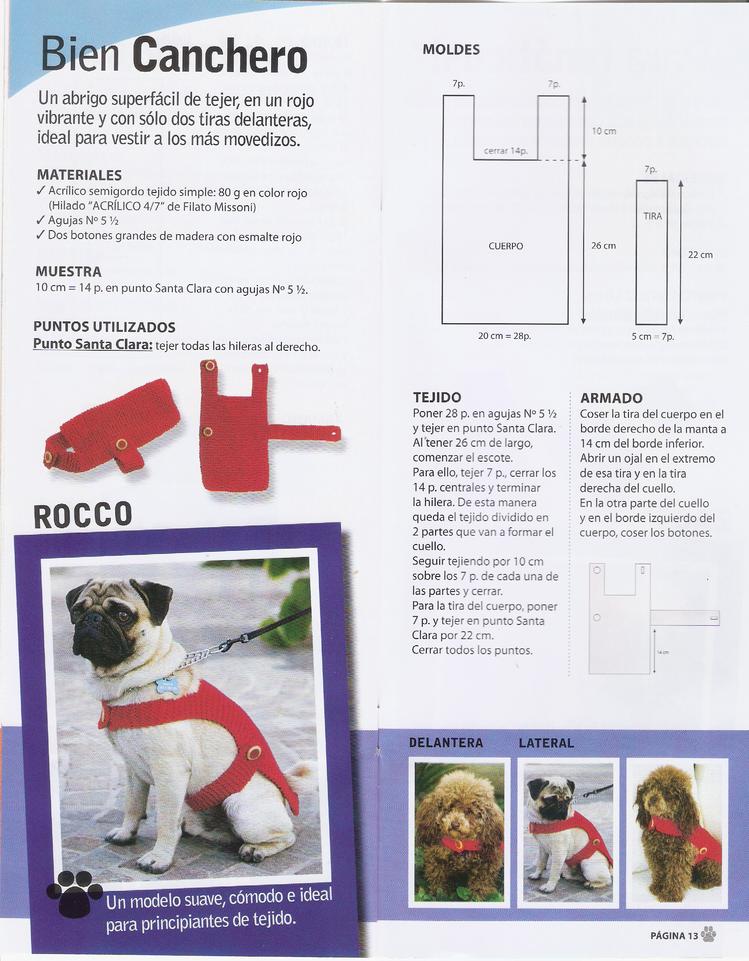 tejido mascotas | ropa para perros | Pinterest | Mascotas, Ganchillo ...