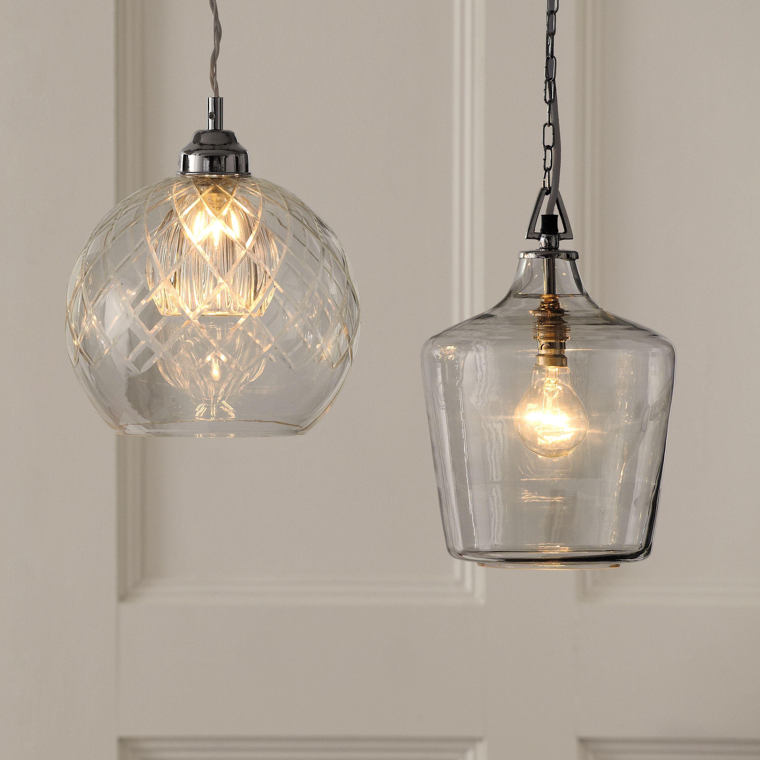 Ockley Glass Bottle Ceiling Pendant Light Images
