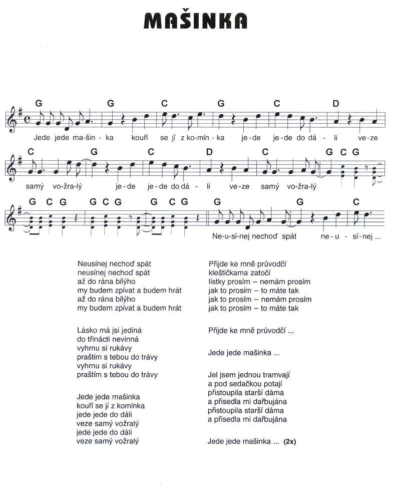 noty ke stažení zdarma flétna