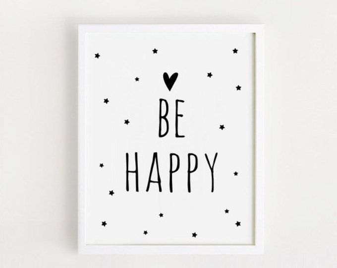 Para imprimir cotizaciones cartel ser feliz signo negro y blanco ...