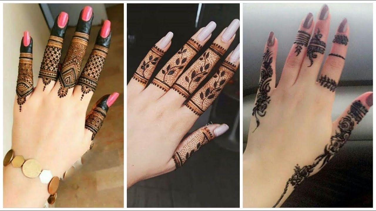 stylish finger mehndi designs finger simple