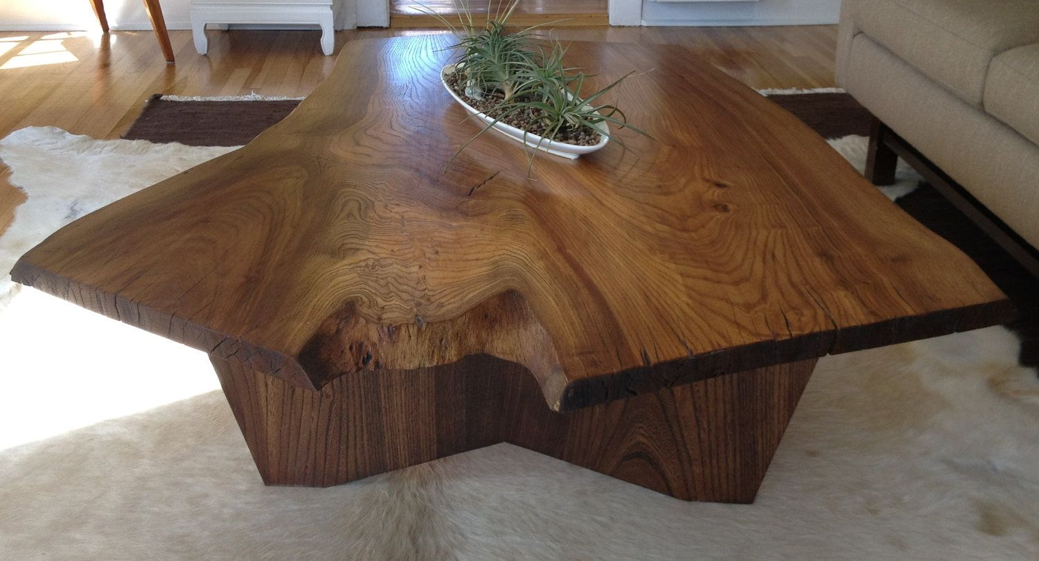 Redwood Couchtisch Handcrafted English Elm Wood Slab Coffee Table Home