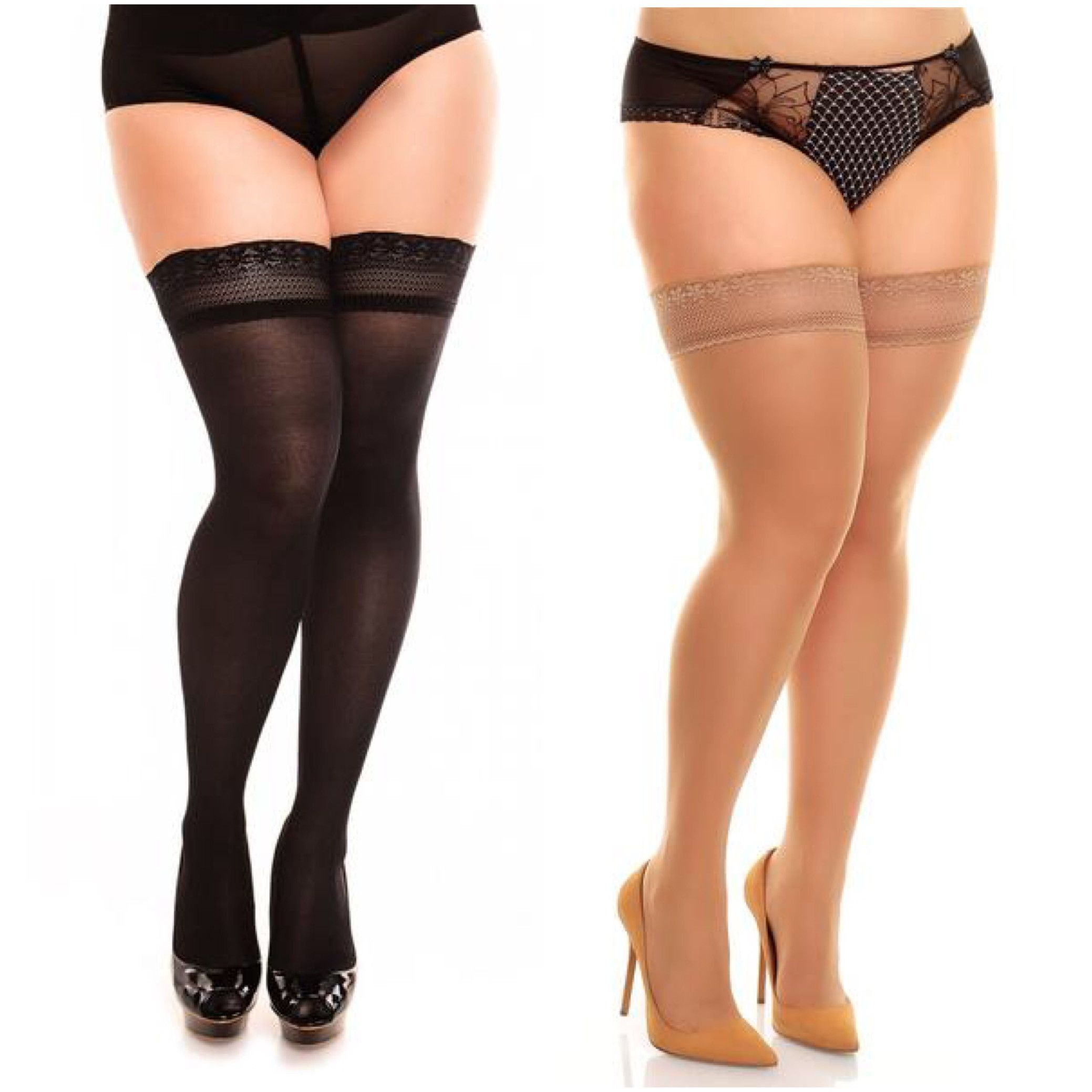 cdc6c017677 Vital Minimal Lace Thigh Highs. Vital Minimal Lace thigh highs are semi  opaque with 40
