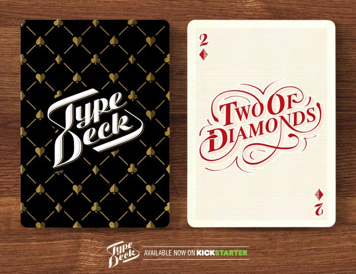 A mock up of the Backs & the Diamonds suit - The Two of Diamonds.