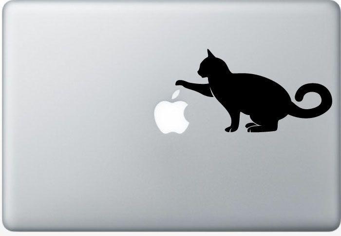 Mackbook Decal Cat Vinyl Decal By Potandkettlestudios On Etsy - Vinyl decal cat pinterest