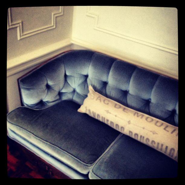 my vintage blue velvet sofa